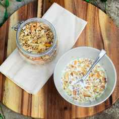 Grain Free Coconut Crunch Mango Granola (GF, Vegan & Paleo)