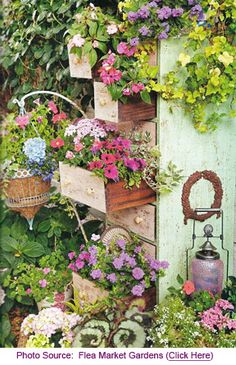 Attractive and unusual, garden art created from old junk not only enhances all styles and sizes of gardens, but also encourages ecologically friendly practices by recycling what already exists. Gardeners are creative at giving a new and exciting lease of life to found objects adding a bit of whimsy, interest and personality to their gardens while turning waste into a resource.