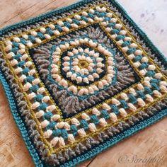 Ravelry: Puffalicious Square pattern by Saraphir Qaa-Rishi Crochet Squares, Crochet Motif, Crochet Stitches, Free Crochet, Crochet Patterns, Crochet Granny, Granny Squares, Crochet Lace, Garnstudio Drops