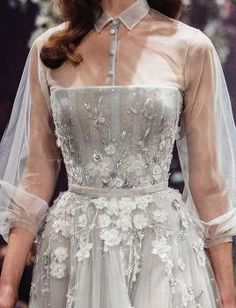 Details Once Upon a Dream Paolo Sebastian 2018 S/S Couture Pretty Dresses, Beautiful Dresses, Looks Party, Evening Dresses, Prom Dresses, Disney Wedding Dresses, Glamour, Mode Inspiration, Elie Saab