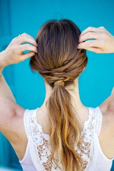DIY a twisted pony with this tutorial.