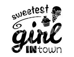 Plotterdatei SVG, DXF - Sweetest Girl in Town von kullaloo - Schnittmuster, Stickdateien, Plüsch uvm. auf DaWanda.com