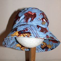 Boys fisherman style bucket hat  great for by Kinderbibbles, $8.00