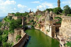 Chittorgarh Fort-Chittorgarh Fort has received the credit of being the largest fort of India. The massive fort is located on a high hill near the Gambheri River in Chittorgarh. Chittorgarh Fort lies at a distance of 112 kms from the city of Udaipur in Rajasthan.