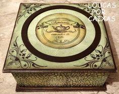 caixa de chá com carimbos para artesanato - Loucas por caixas - Terra Fotolog