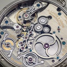 Close-up of the gorgeous movement of the #alangesohne Zeitwerk #minuterepeater