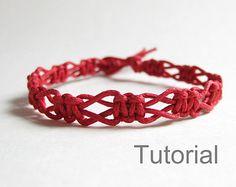 Macrame bracelet pattern instructions tutorial by Knotonlyknots