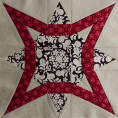 NEW STAR BY Erin @ Flickr: Follow the LINK to the NEW STAR TUTORIAL @ http://quilterscache.com/N/NewStarBlock.html