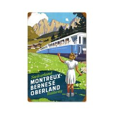 Vintage and Retro Wall Decor - JackandFriends.com - Retro Switzerland Railway  Metal Sign 12 x 18 Inches, $39.97 (http://www.jackandfriends.com/retro-switzerland-railway-metal-sign-12-x-18-inches/)