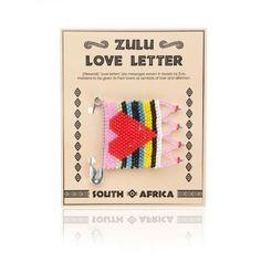 Dit is een Zulu love letter hart Uit Zuid,Afrika fairtrade