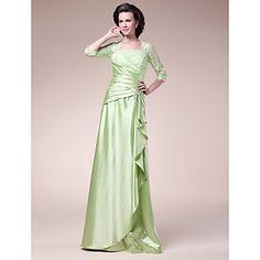 Granny.....A-line Square Floor-length Stretch Satin Mother of the Bride Dress – USD $ 178.19