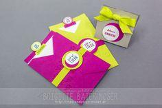 """Kräftige Farben und einfach gehaltenes Design - Karten und Verpackung, hergestellt mit den Stempelsets """"Kurz gefasst"""" und """"Pop-ulär"""""""