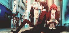 Fushimi and Misaki. #gif