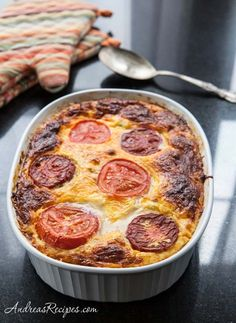 Egg and Cheese Casserole with Feta, Spinach, Mushrooms, and Tomatoes