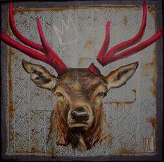 Deer  #wojciechbrewka #art #painting #oilpainting
