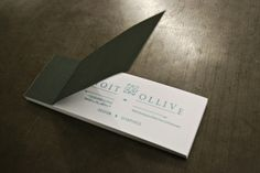 tear off business cards... Benoit Olivie, a (22) year old french graphic designer