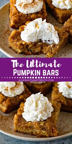 Looking for easy pumpkin desserts for Thanksgiving? Make this Ultimate Pumpkin B… Looking for easy pumpkin desserts for Thanksgiving? Mini Desserts, Dessert Cake Recipes, Dessert Bars, Thanksgiving Desserts, Fall Desserts, Just Desserts, Delicious Desserts, Thanksgiving Sides, Vegan Desserts