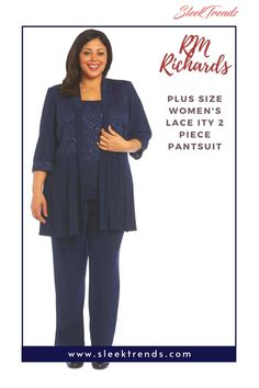 This fashionable pant suit will definitely make you stand out as a Plus size mother of the bride or groom or as a wedding guest. Plus size women social dresses, Three Quarter Sleeve, Mother of bride outfits, Two piece pant suit, Party Dress, 2 piece pantsuit, Lace ITY dress, Casual dresses, Elbow sleeves, Lace ITY dresses for women, Wedding guest outfit, #socialdress #motherofbride #womenpartydress #lacedress #elbowsleeves #longlacedress #twopiecepantsuit #laceitydress