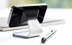 The Milo uses a micro-suction pad to hold your iPhone in either vertical or horizontal orientations.