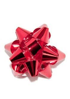 Kim Rogers  Red Christmas Bow Pin