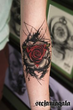 31 of the best black and red tattoos - Page 5 of 6 - 123 tattoos - Tatt . - Amy - 31 of the best black and red tattoos – Page 5 of 6 – 123 tattoos – Tatt … – - Best Tattoos For Women, Cool Tattoos For Guys, Sleeve Tattoos For Women, Red Tattoos, Body Art Tattoos, Small Tattoos, Tattoo Drawings, Rose Drawing Tattoo, Blue Rose Tattoos