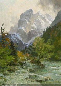 edward harrison compton paintings | COMPTON Edward Harrison,Am Totenkirchl im Kaisergebirge,Neumeister ...