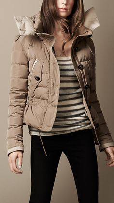 Burberry Brit Down-Filled Military Blouson with Hood