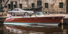 Rare Lamborghini Boat Restored by Riva-World. Two Lamborghini Wooden Boat Building, Wooden Boat Plans, Riva Boot, Classic Wooden Boats, Classic Boat, Timeless Classic, Build Your Own Boat, Best Boats, Supercars