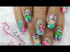 Nail Designs Spring, Nail Art Designs, Animal Nail Art, Chic Nails, Cute Acrylic Nails, Nail Wraps, Toe Nails, Summer Nails, Pedicure