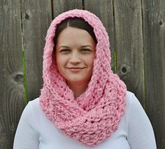 Hooded Crochet Infinity Scarf ~ free pattern