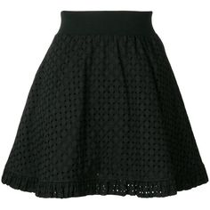 Love Moschino A-line mini skirt (1.155 BRL) ❤ liked on Polyvore featuring skirts, mini skirts, black, cotton a line skirt, cotton mini skirts, a-line skirts, cotton short skirts and short a line skirt