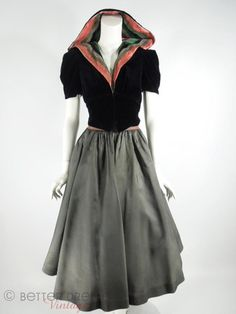 30s Hooded Jacket & Circle Skirt Set - sm