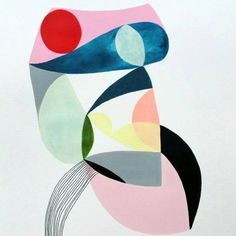 Original abstract painting by Victori Atelier, painted with acrylic and ink on heavyweight Canson paper.
