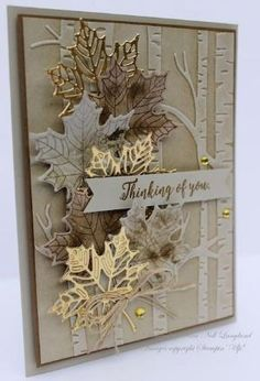 Maple Leaf Plant Metal Cutting Dies Scrapbooking Stencil Die Cuts Card Making DIY Decorative Craft Embossing New Dies For 2019 Leaf Cards, 3d Cards, Folded Cards, Stamping Up Cards, Get Well Cards, Sympathy Cards, Greeting Cards Handmade, Handmade Fall Cards, Handmade Halloween Cards