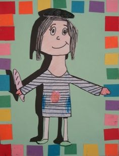 """These charming 'portraits with shadows' were made by Gr.3 students. I found the idea at the elementary art blog: """" An Art Room Fille..."""
