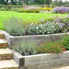 railway sleepers garden - Google Search