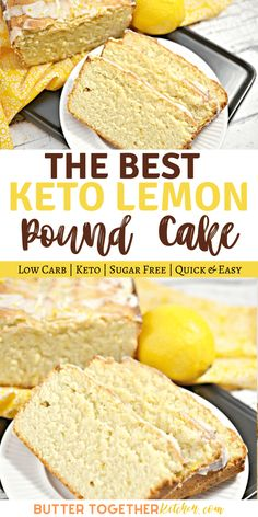 Keto Lemon Pound Cake is decadent, moist, zesty, and tangy! In other words, it's everything you want in a lemon pound cake without everything you don't. #ketolemonpoundcake #ketopoundcake #ketolemoncake #ketocake #ketodessert Keto Cupcakes, Keto Cake, Keto Chocolate Cake, Low Carb Sweets, Pound Cake, Vanilla Cake, Low Carb Recipes, Cake Recipes, Favorite Recipes