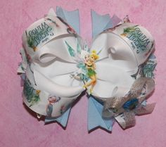 Tinkerbell and Periwinkle Secret of the Wings Custom Boutique Style Bow. $10.00, via Etsy.