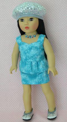 "My beautiful ""Asian"" Madame Alexander in peplum top and matching skirt."