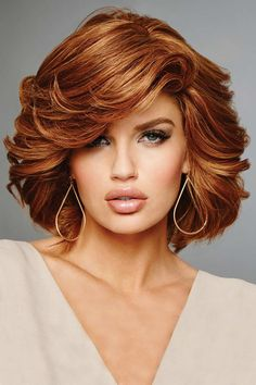 Hollywood & Divine by Raquel Welch Wigs - Remy Human Hair, Hand Tied, Lace Front, Monofilament Wig Remy Human Hair, Human Hair Wigs, Medium Hair Styles, Curly Hair Styles, Cheveux Oranges, Raquel Welch Wigs, Monofilament Wigs, Wig Hairstyles, Brown Hairstyles