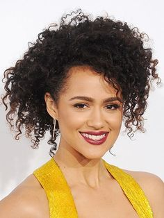 Curly Hair Ideas - How to protect your curls for long, loose, and perfectly imperfect curls like Nathalie Emmanuel's messy updo Curly Hair Styles, Natural Hair Styles, Natural Curls, Nathalie Emmanuel, Red Carpet Hair, Messy Updo, Elegant Updo, Best Wedding Hairstyles, Trending Hairstyles