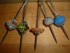 001 | Flickr - Photo Sharing! Handmade support spindles using double pointed knitting needles and handmade beads