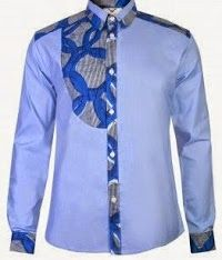 Simple Blue Color Ankara style For Male