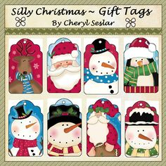 Silly Christmas Gift Tags *pbc-gt