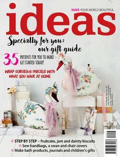 Ideas Magazine: - 35 presents to make to get started today. - Wrap gorgeous parcels with what you have at home. - Make bath products and children gifts. Modern Crafts, Diy Home Crafts, Handmade Crafts, Design Your Own Mug, Magazine Crafts, Ideas Magazine, Free Magazines, Craft Day, Childrens Gifts