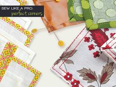 How to Sew a Corner (aka Mitered) Hem | Sew4Home {napkins, tea towels}