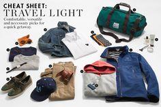 travel light cheat sheet