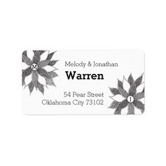 Add the First Letter of your and your Partners first Name. Return Address Labels, First Names, Zentangle, My Design, Monogram, Lettering, Flowers, Products, Return Address Stickers