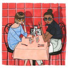 It's Nice That | Illustrator Sally Nixon celebrates fabulous females in her charming vignettes