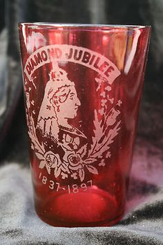 Queen Victoria Diamond Jubilee Ruby Glass